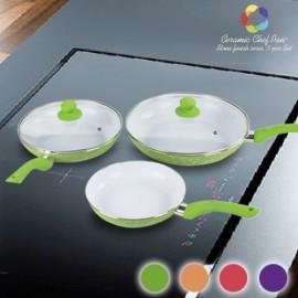 Poêles Ceramic Chef Pan Stone Edition (5 pièces)