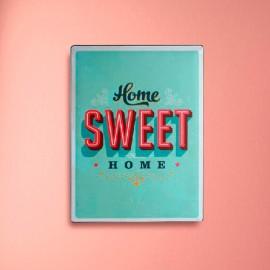 Plaque en Métal Home Sweet Home Vintage Coconut