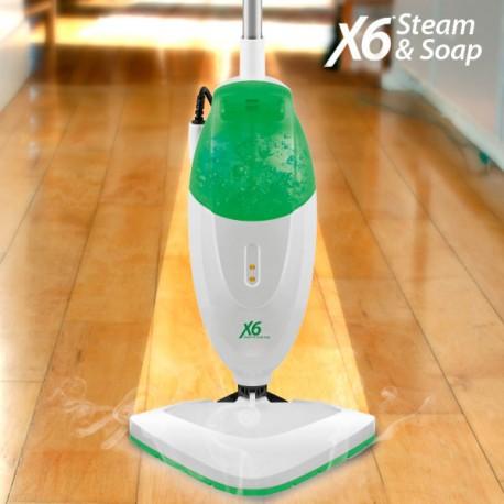 Balai Vapeur avec Savon Steam & Soap X6