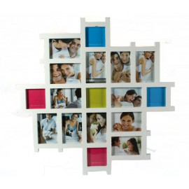 Porte Photo Multiple Bois Blanc