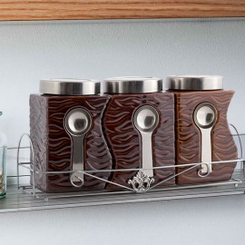 OUTLET Bocaux en céramique avec support (pack de 3) (Liquidation)