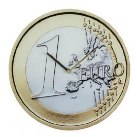Horloge Murale forme Pièce Euro