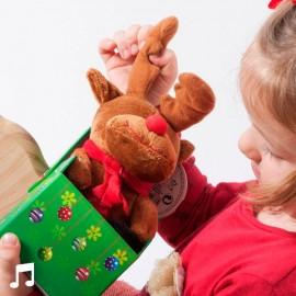 Peluche de Noël Musicale dans sa Boîte Décorative