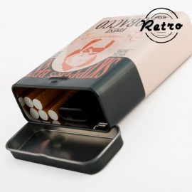 Étui à cigarettes métallique Rétro