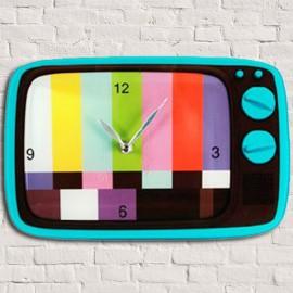 Horloge Murale Verre TV Mire