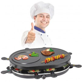 Appareil à Raclette Tristar RA2944 (8 Coupelles, Plancha et Crêpière)