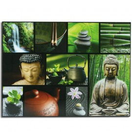 Tableau Verre Bouddha & Paysage Relax 60 x 80 cm