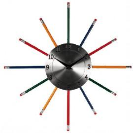 Horloge Murale Crayons à Papier