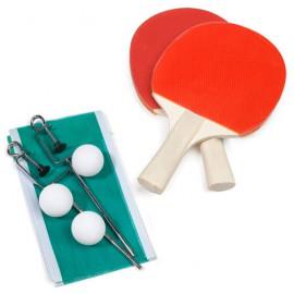 Set Ping Pong FunStart (2 Raquettes + 3 Balles + 1 Filet)