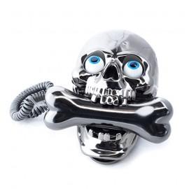 Téléphone Tête de Mort avec Os