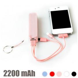 Chargeur de Batterie USB avec Porte-Clefs 2200 mAh