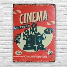 Plaque en Métal Cinéma