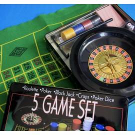 OUTLET Jeux de Société 5 en 1 (Sans emballage )
